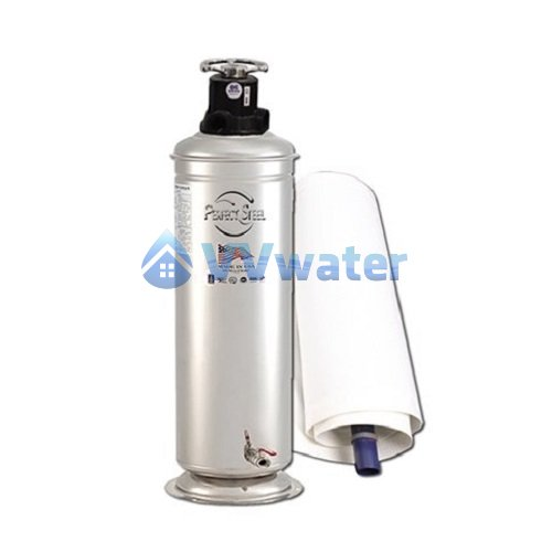 Sopf25 55 micro filtron stainless steel outdoor water filter for Garden water filter system