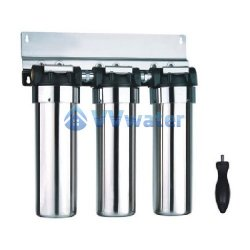 AS20-3 Stainless Steel Triple Water Filter