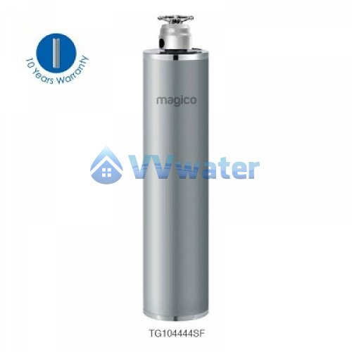 Tg104444sf magico stainless steel outdoor water filter 10 44 for Garden water filter system