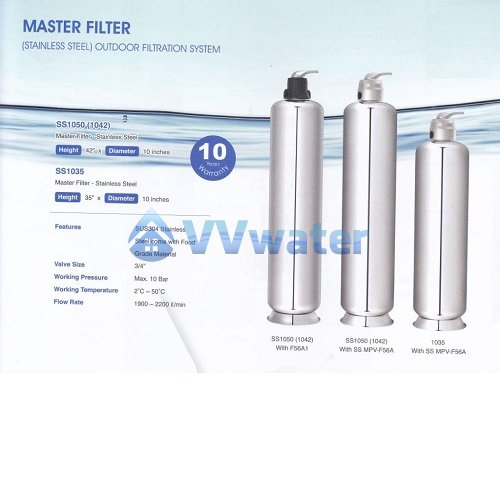 SS MPV-F56A Stainless Steel Outdoor Water Filter 10